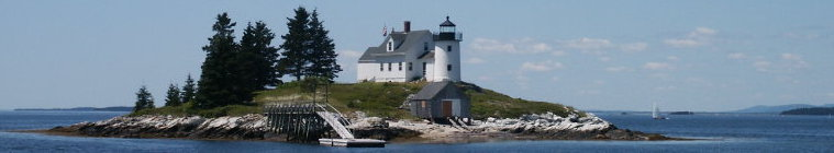 Pumpkin island lighthouse Penobscot Bay Maine