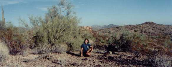 Esther in her vision quest area Arizona