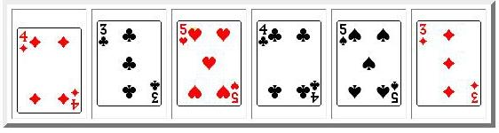 5 playing cards
